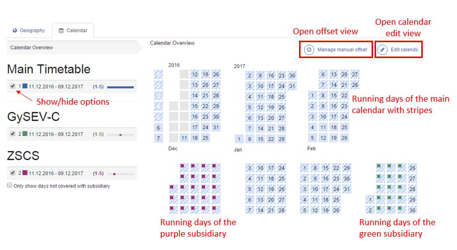 Editable Calendar View : Edit calendar and offsets cms rne