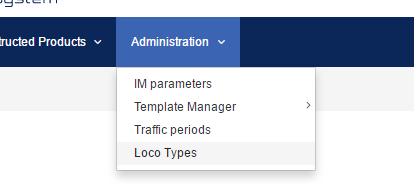 Loco type menu