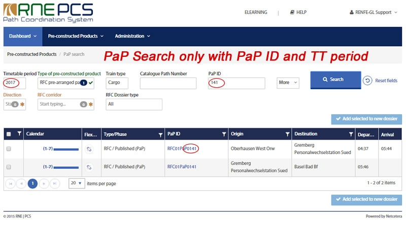 PaP Search by PaP ID