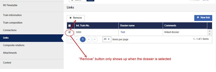 Remove link