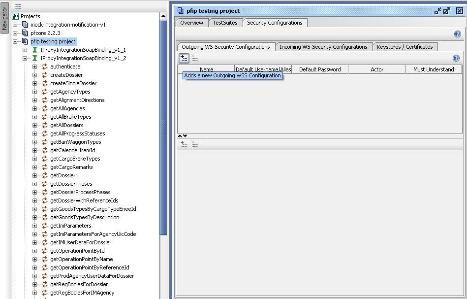 soapUI project Outgoing WSS configuration